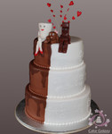 wedding cake half and half